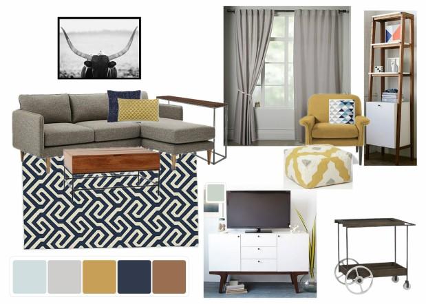 Mid-Century Modern Bachelor Living Room
