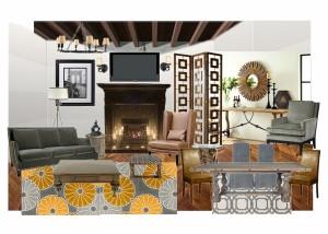 Modern Spanish Living Room