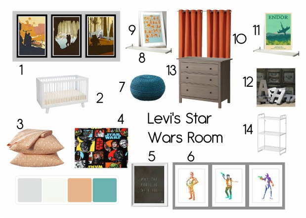 Levi's Star Wars Room